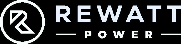 Rewatt Power logo in white.